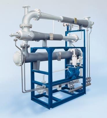 3х-ступенчатая вакуумсоздающая система с воднокольцевым насосом
